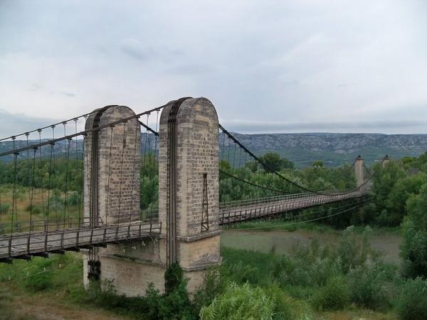 Pont suspendu sur la Durance