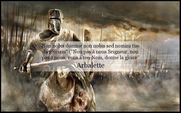 "Non nobis domine non nobis sed nomini tuo da gloriam"""