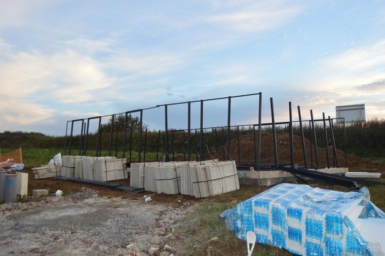 Le 27/10/2015 début de la construction