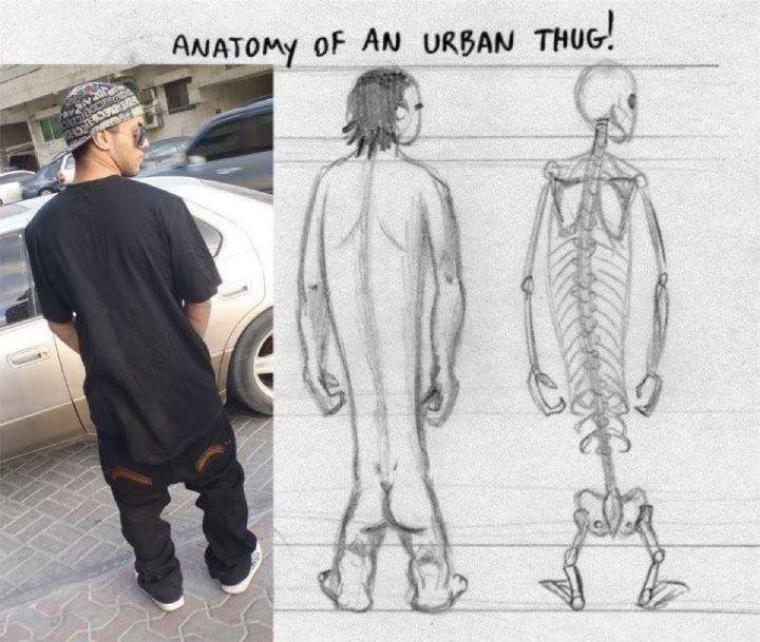 #2. Pour tout ceux qui aime porter leur pantalon en dessous des fesses...