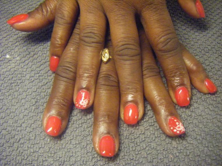 plaque couleur avec nail art