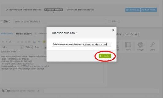 EasyTip n°1 : Création d'un lien