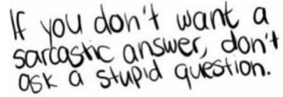 Weird Questions.