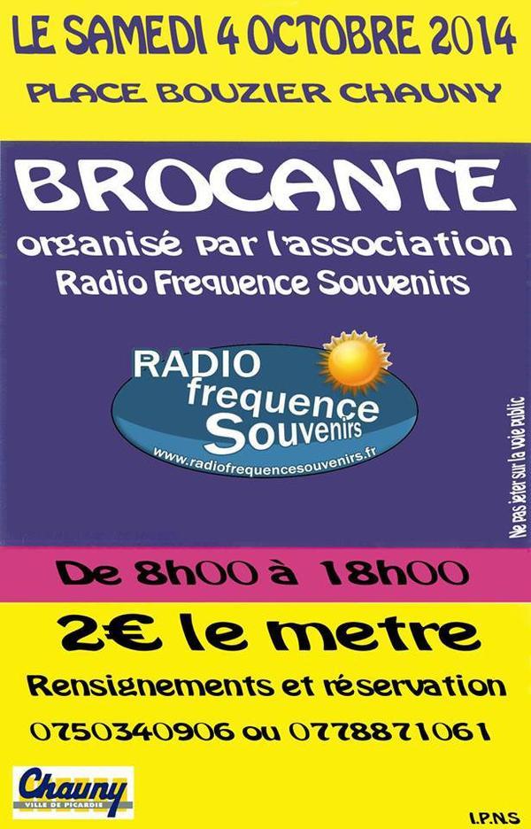 le samedi 4 octobre de 06H00 jusqu'à 18H00 place bouzier 02300 chauny