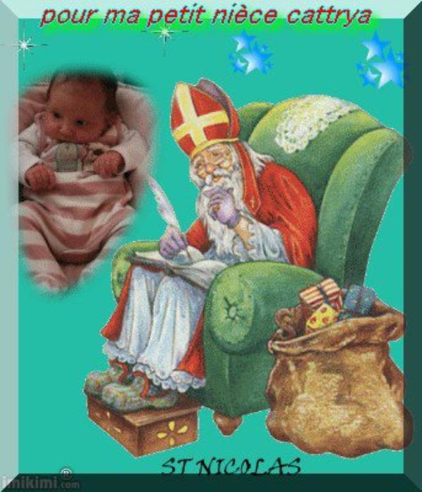 ♫♫♫ bonne fête de st Nicolas pour ma petite nièces cattrya et son coussin adonis ♫♫♫