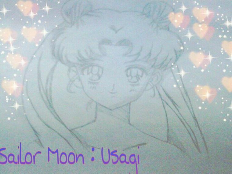 Dessin de sailor moon que j'ai fait aujourd'hui