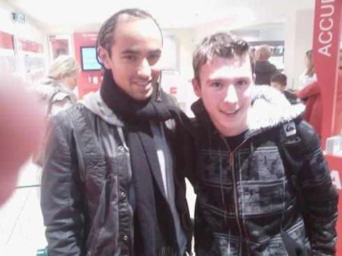 Moi et Bruno Grougi joueur de foot professionel à Brest