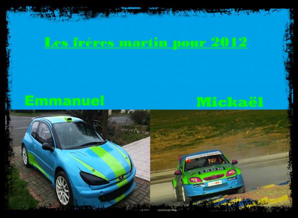 Les deux voitures des frères Martin pour 2012
