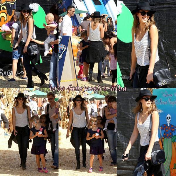 Jessica a été vu faire du shopping avec sa fille Haven courses au Whole Foods et Rite Aid à Los Angeles , puis en laissant Color Me mine avec honneur dans Beverly Hills hierle 18 Octobre .
