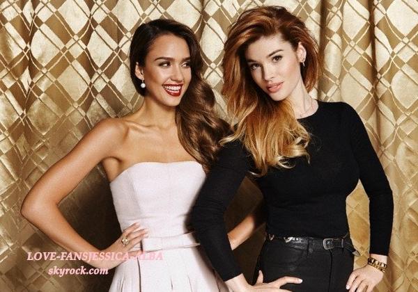 Jessica et maquilleuse Lauren Andersen fonction en beauté l'édition de The Hollywood Reporter , qui revient sur les meilleurs moments de beauté 25 de l'année écoulée.