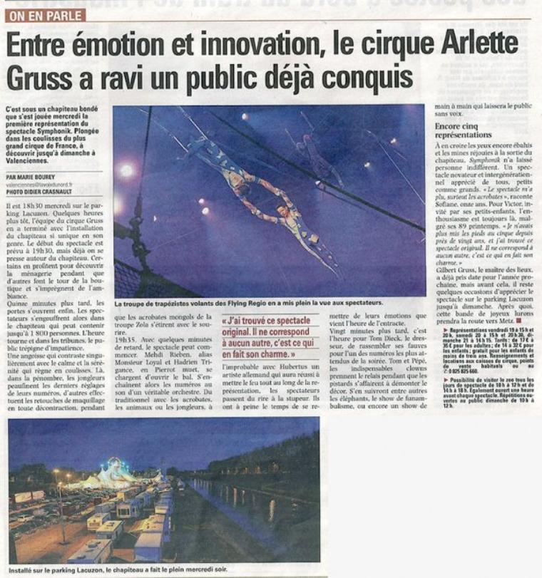 Arlette Gruss > Point presse du jour