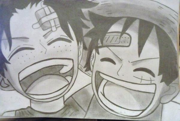 Ace et Luffy ^^ ♡ (mon dessin #2)