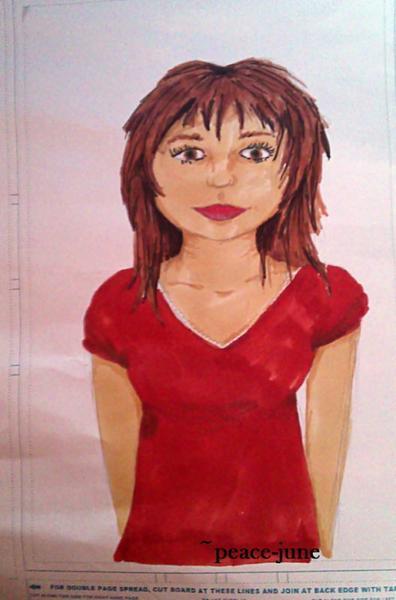 """Découverte des feutres alcool , et nouveau dessin """" The girl in red"""""""