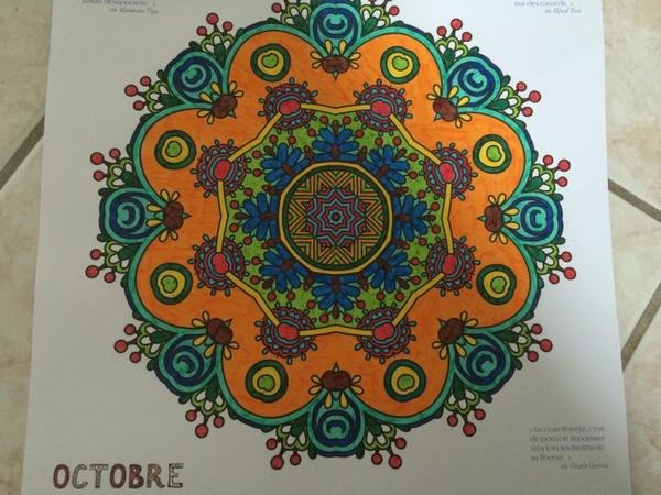 Mandalas : calendriers 2015 coloriages Lolo