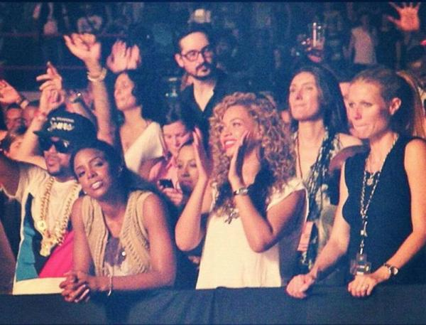 Kelly Rowland, Beyoncé & Gwyneth Paltrow a Watch The Throne Tour (Paris-Bercy 01/06/2012)