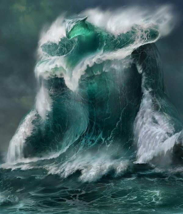 la mer en forme animaux