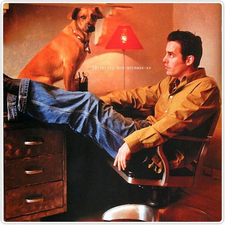 Nicholas Brendon et son chien