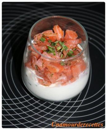 Verrines de saumon fumé