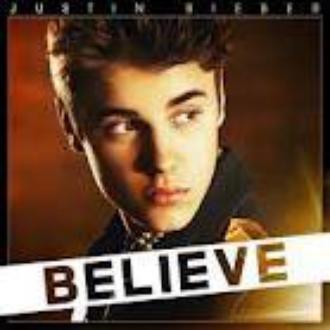 "Voici la futur pochette de son album "" Believe """