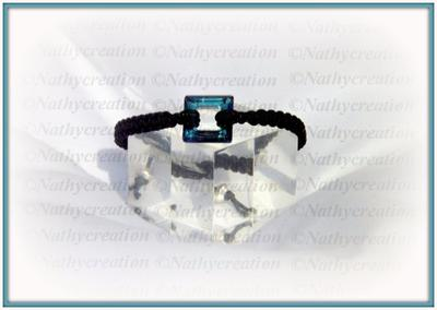 Bracelet Carré Cristal reflet bleu vert