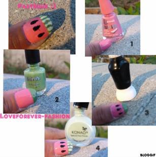 La pastèque en nail art :)
