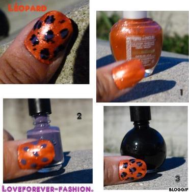 Léopard nail art . :)