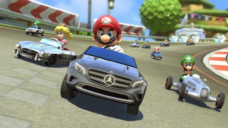 Mario Kart 8 : Mise à jour + 3 Mercedes (vidéo)