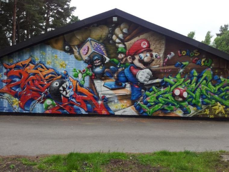 Galerie Photos : Jeux Vidéos en Graffitis (1/9)