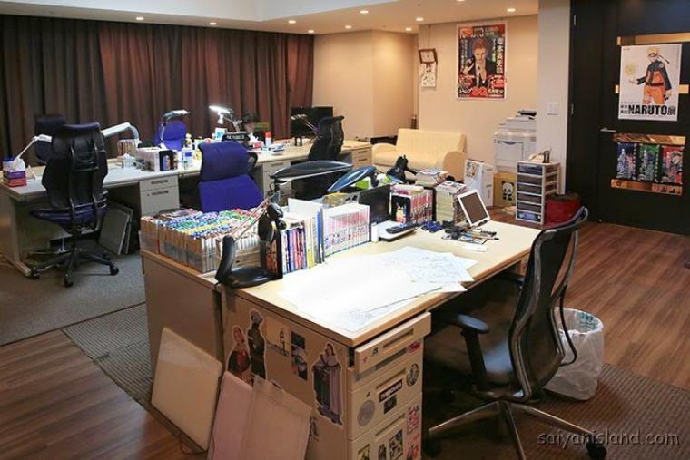 L'auteur de Naruto nous dévoile son studio