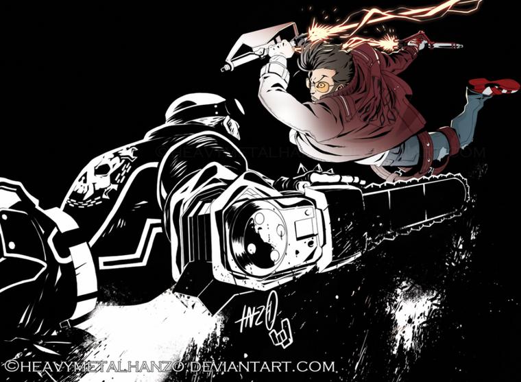 Fanarts #45 - Gangsters, Matrix et Robot