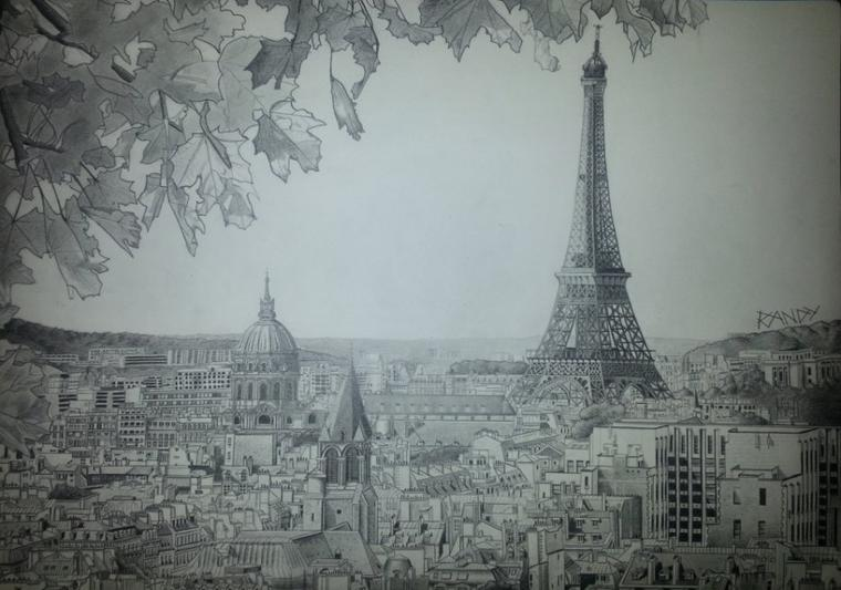 Dessins : Portrait & Paris.