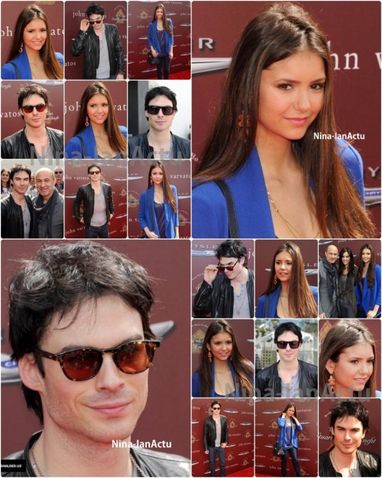 11/03 : Ian at Nina au 9th annual John Varvatos Stuart House Benefit.