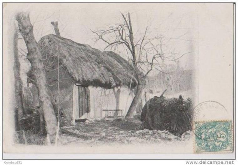 Aujourd'hui, dans la série des vieux métiers, la vie à la ferme. Ici en France une ferme-cabane au toit de chaume
