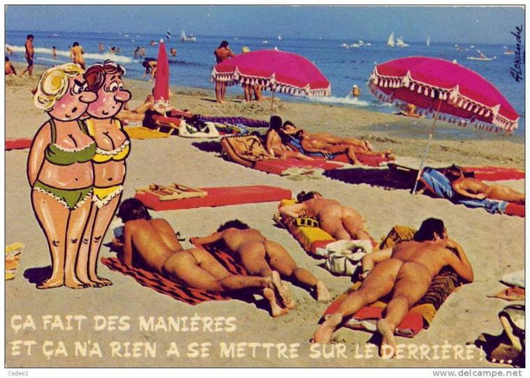 Aujourd'hui, voici d'anciennes cartes postales humoristiques.
