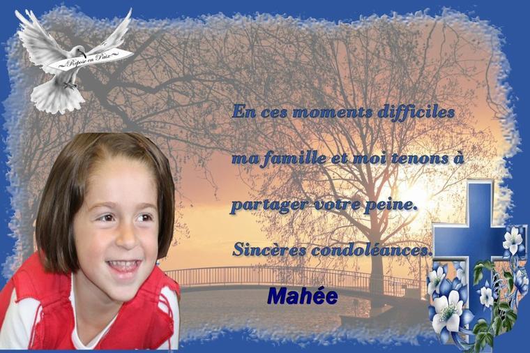 hier etait un jour triste pour nous nous avons perdu une amie la pricesse mahee une enfant de 6 ans qui avait la meme maladie que notre loulou alors le coeur n y etait pas du tous  ......repose en paix petite Mahee