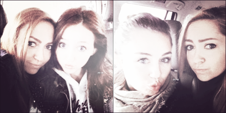 17/04/12 : Miley et Liam ont étés aperçus en voiture à Los Angeles.