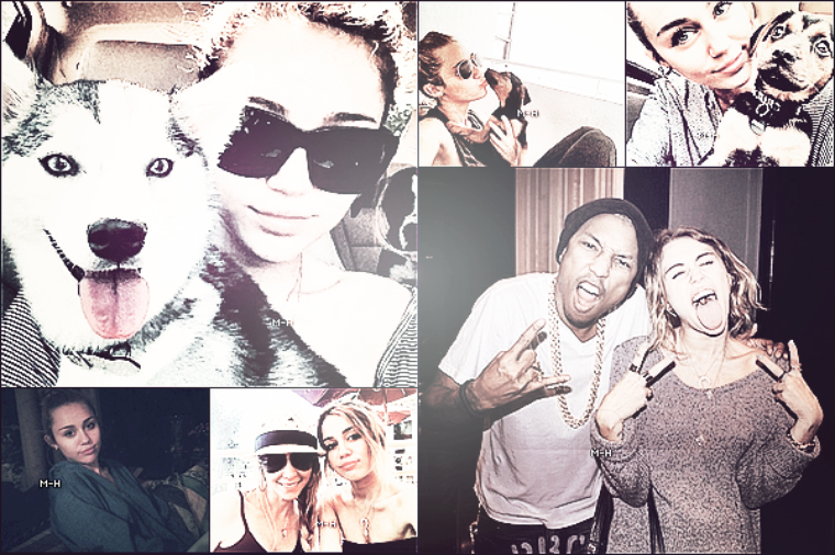 Quelques photos personnelles de Miley provenant de son compte twitter.