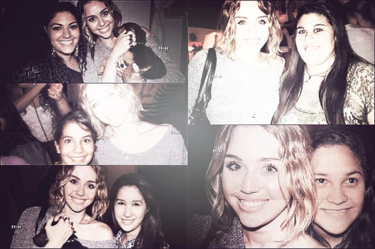 16/05/12 : Miley, Tish et Brandi, bloquées par les fans, quittant leur  hôtel à Miami.