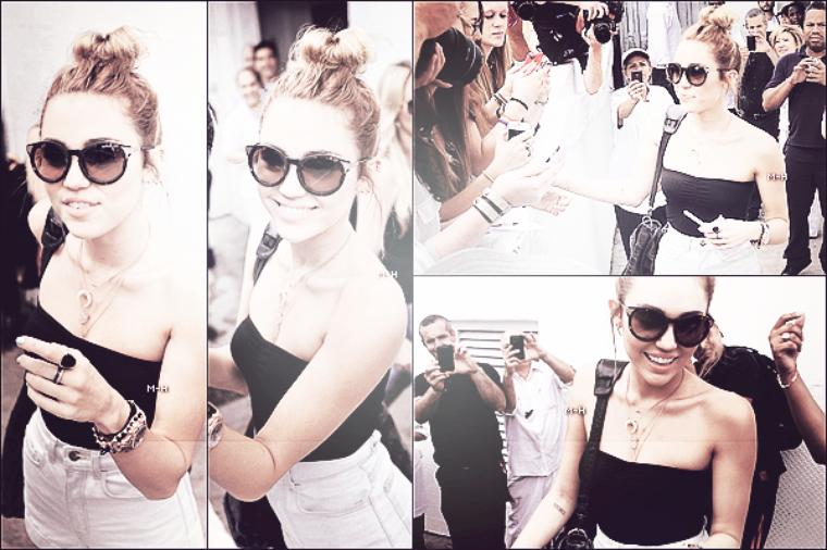 17/05/12 : Miley a été aperçu sur le balcon de son hôtel avec Happy à Miami.