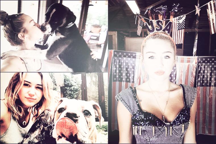 07/07/12 : Miley attendant dans la voiture d'un(e) ami(e) sa limonade à Los Angeles.