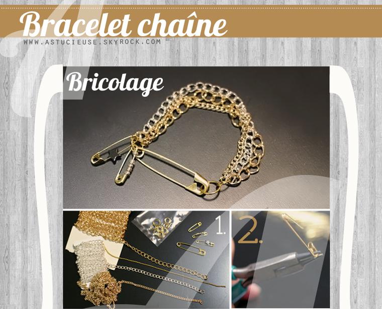 Bricolage : comment faire un bracelet chaîne