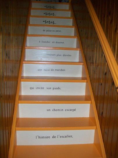 escalier marche de couleur mandarine contre marche marchand de glace jennydeco62 douai arras