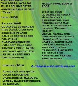Alyssa Milano ♥ Bonne année et bonne santé , un billet non je rigole :)