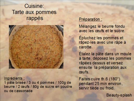 Cuisine: Tarte aux pommes râpées