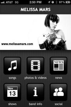 2011 Aug 12 - L'application Melissa Mars sur Apple Store & Android Market !