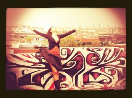 2012 May 9 - Sur le tournage de GLIMPSE .... Avec Melissa Mars & Clayton Myers