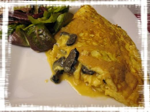 Grosse omelette aux truffes
