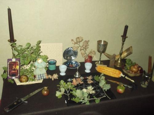 Autel et recettes de Mabon