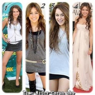 The look of MILEY CYRUS