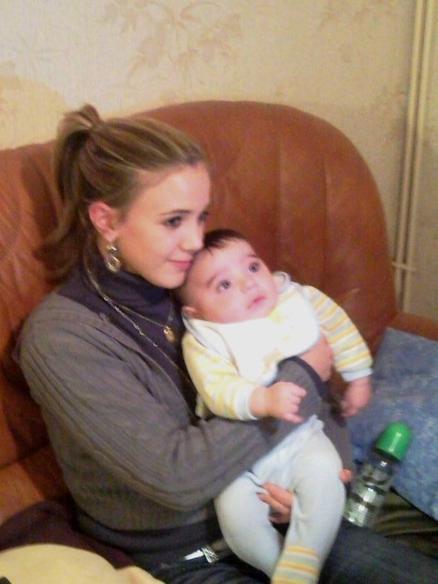 moi et mon petit coeur Leandro <3
